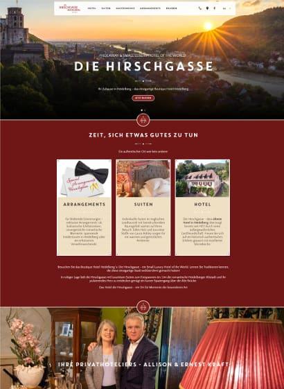 Hirschgasse Heidelberg Webseite